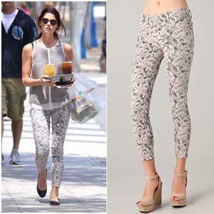 J Brand Floral Cropped Jeans